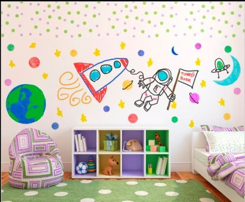 whiteboard child's room
